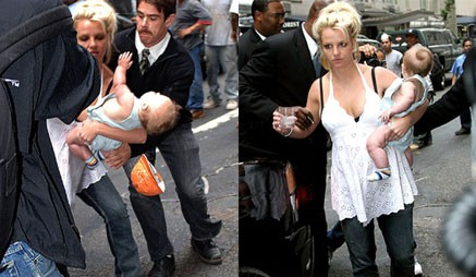 britney spears dropping a baby